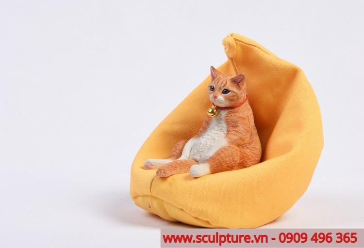 tượng mèo dễ thương